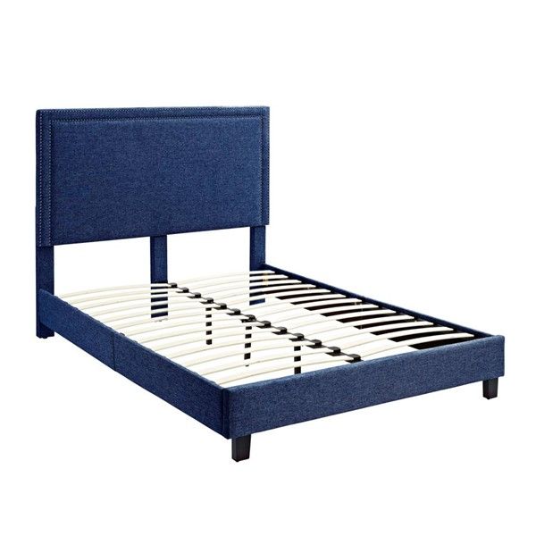 Picket House Emery Blue Upholstered Queen Platform Bed PKT-UMY080QB