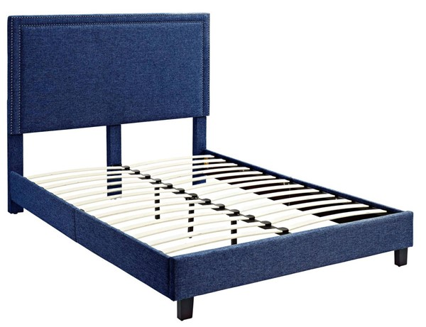 Picket House Emery Blue Upholstered Twin Platform Bed PKT-UMY080TB