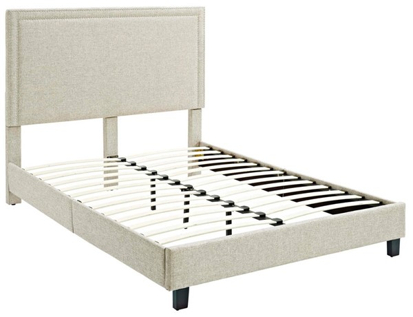 Picket House Emery Natural Upholstered Queen Platform Bed PKT-UMY082QB