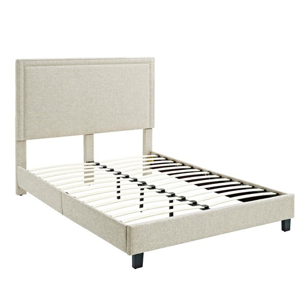 Picket House Emery Natural Upholstered Twin Platform Bed PKT-UMY082TB