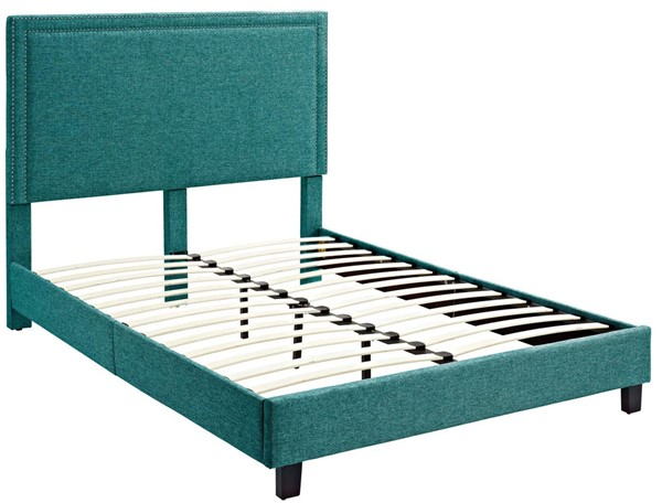 Picket House Emery Teal Upholstered Queen Platform Bed PKT-UMY087QB