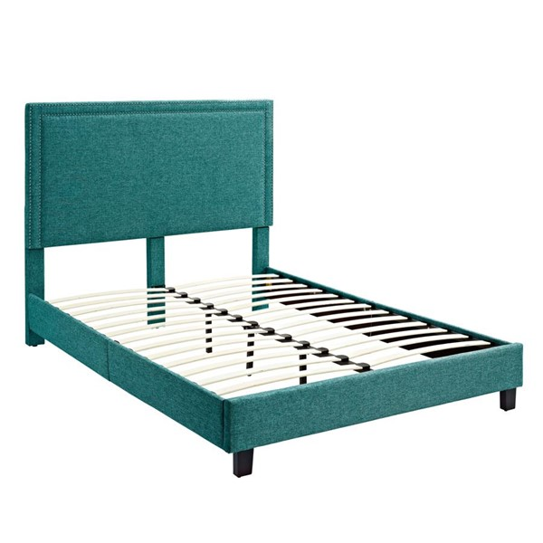 Picket House Emery Teal Upholstered Twin Platform Bed PKT-UMY087TB