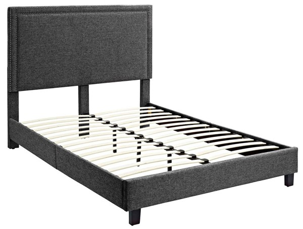Picket House Emery Charcoal Upholstered Full Platform Bed PKT-UMY090FB