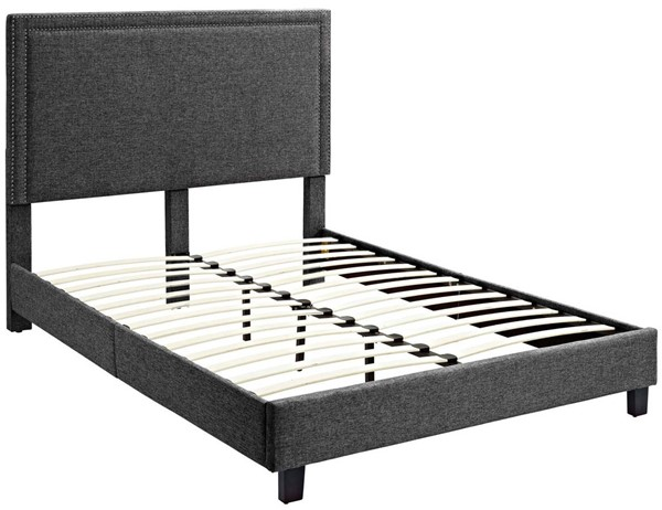 Picket House Emery Charcoal Upholstered Twin Platform Bed PKT-UMY090TB