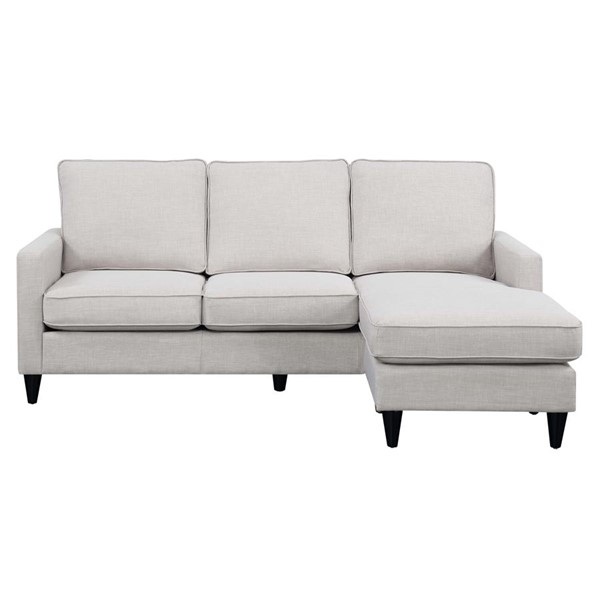 Picket House Nori Taupe Fabric Reversible Chaise Sectional PKT-UNH086302NP