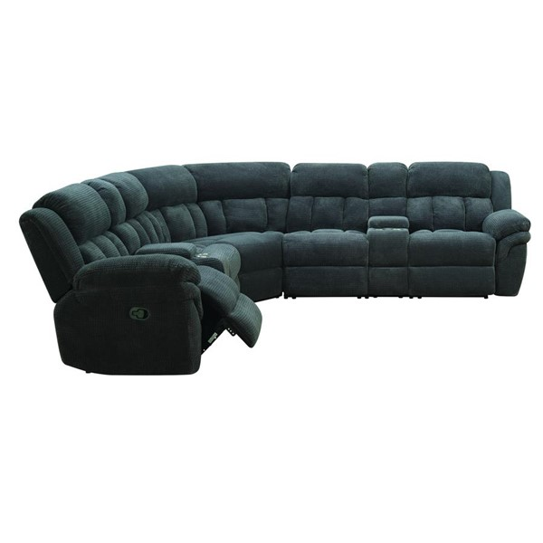 Picket House Celeste Carbon Fabric Reclining Sectional PKT-UST13937PC