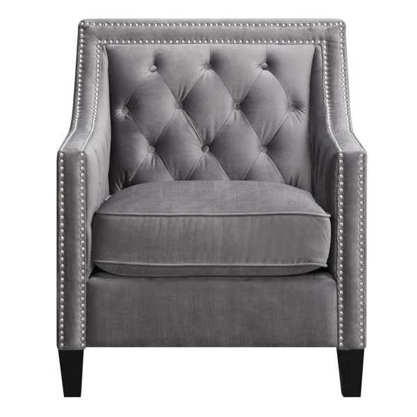 Picket House Teagan Gun Metal Fabric Accent Chair PKT-UTF288100CA