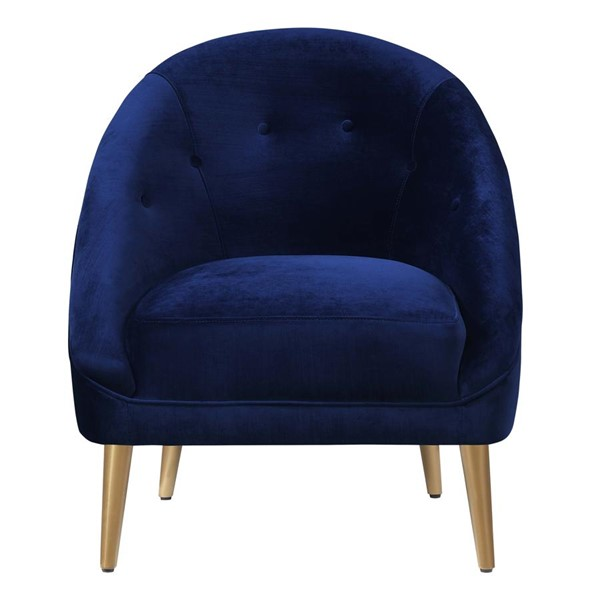 Picket House Taryn Navy Blue Fabric Tufted Back Accent Chair PKT-UTI286100GC