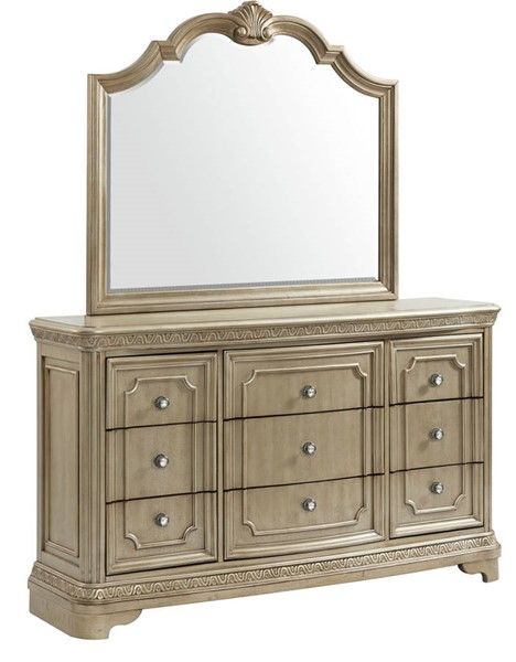 Picket House Berlin Bronze 9 Drawers Dresser and Mirror PKT-VC600DRMR