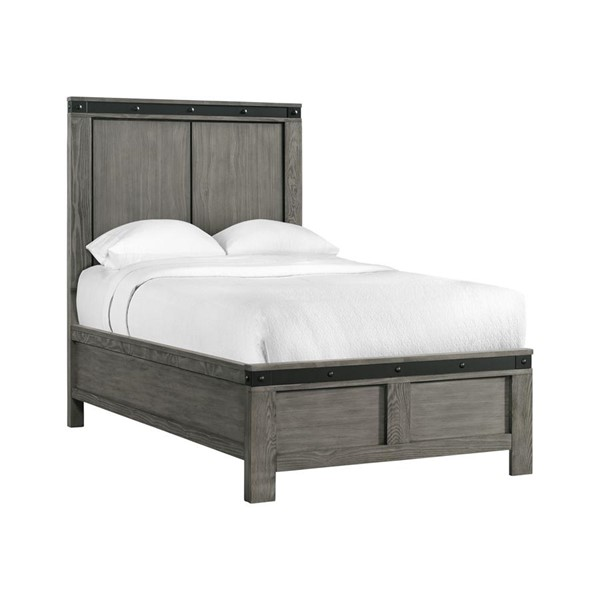 Picket House Montauk Gray Wood Full Panel Bed PKT-WE600FB