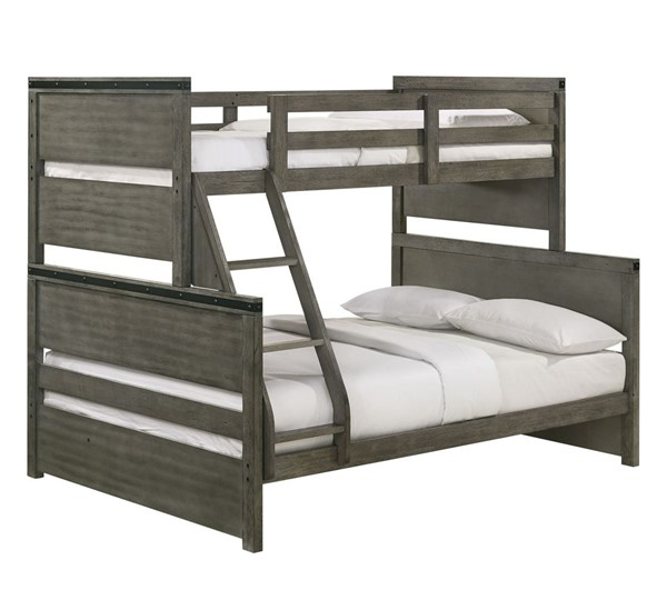 Picket House Montauk Gray Wood Twin Over Full Bunk Bed PKT-WE600TFB