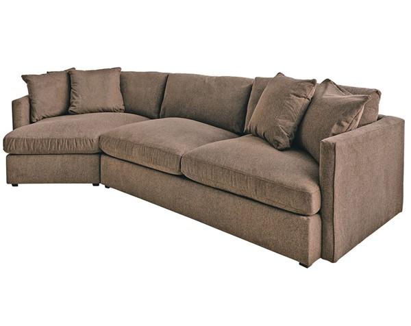 Picket House Maddox Brown Left Arm Facing 2pc Cuddler Sectional PKT-149-ARCOA-LCUD2PC