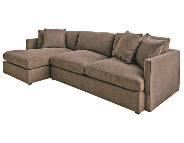 Picket House Maddox Brown Left Arm Facing 2pc Chaise Sectional PKT-149-ARCOA-LF2PC