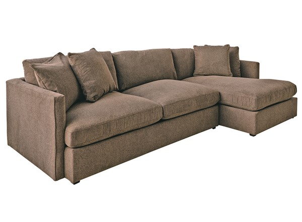 Picket House Maddox Brown Right Arm Facing 2pc Chaise Sectional PKT-149-ARCOA-RF2PC