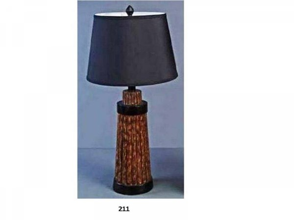 Brooklyn Resin Forest Maple Drum Table Lamp PL-211