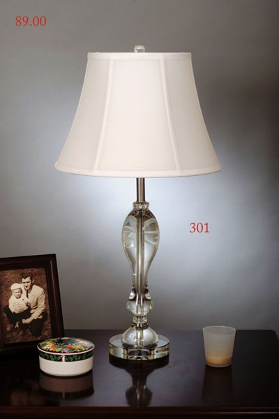 Crystal Metal Shade Bell Table Lamp PL-301