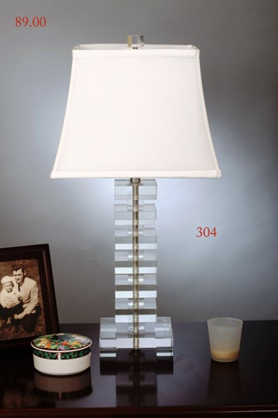Crystal Bell Metal Shade Table Lamp PL-304