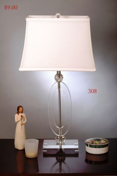 Crystal Metal Rectangle Table Lamp PL-308