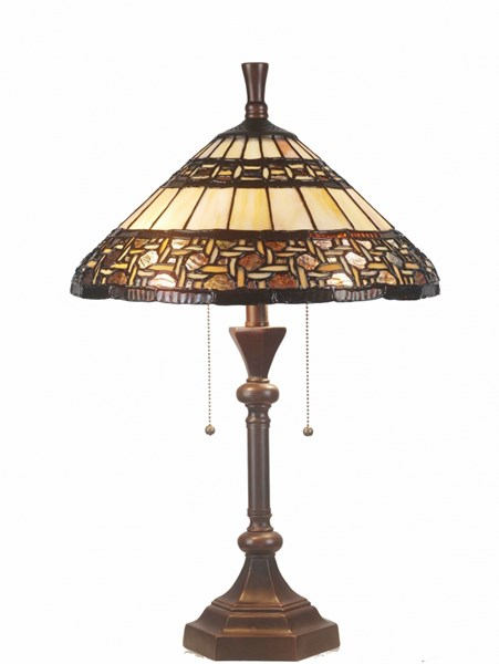 Brooklyn Tiffany Pull Chain On/ Off Table Lamp PL-320