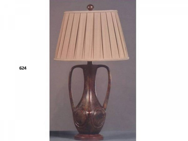 Brooklyn Resin Chesterton Glass Shade Table Lamp PL-624