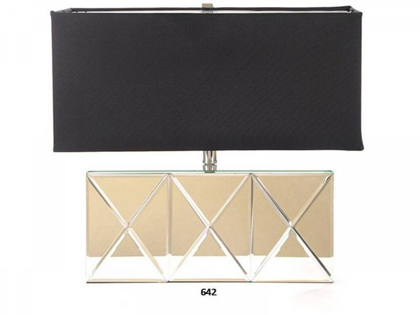 Brooklyn Silver Clear Mirror Rectangle Lamp PL-642