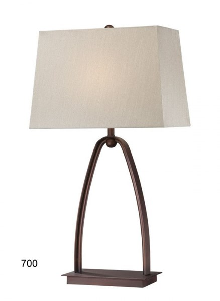 Brooklyn Steel Glass Shade Rectangle Table Lamp PL-700