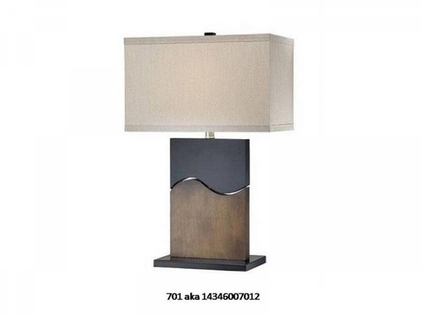 Brooklyn Metal Poly Resin Rectangle Table Lamp PL-701