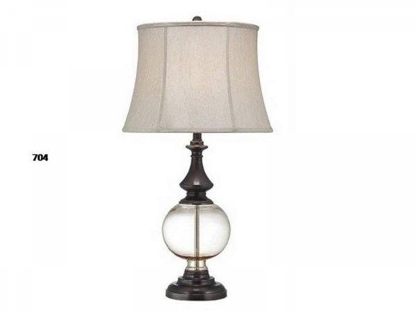 Brooklyn Steel Glass Shade Bell Table Lamp PL-704