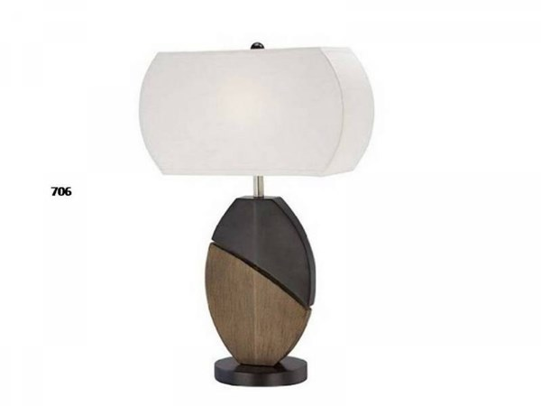 Brooklyn Poly Steel Fabric Shade Table Lamp PL-706