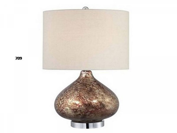 Glass Shade Drum Table Lamp PL-709