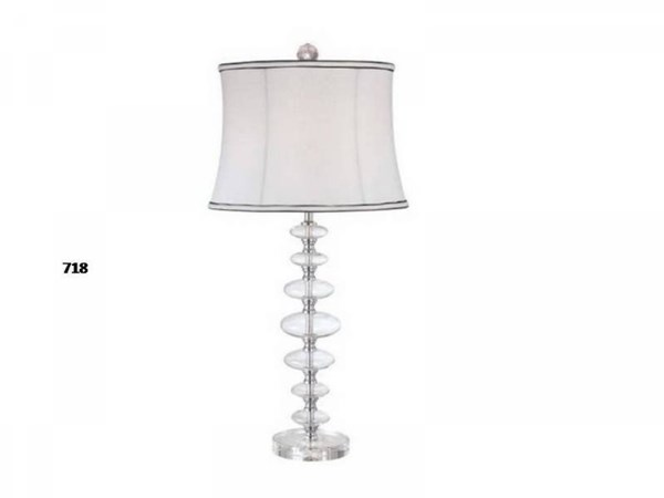 Brooklyn Crystal Glass Shade Drum Table Lamp PL-718