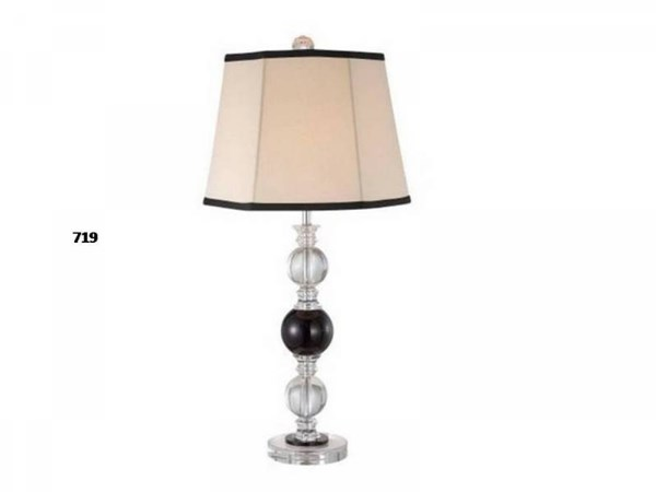 Brooklyn Lamps Black And Clear Crystal Lamp PL-719