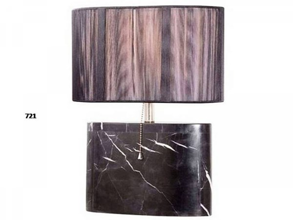 Brooklyn Black Marble Pull Chain On/Off Table Lamp PL-721