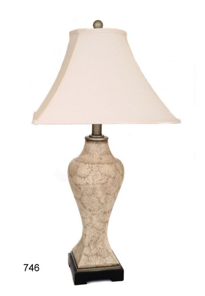 Fabric Shade Poly Stone Bell Table Lamp PL-746