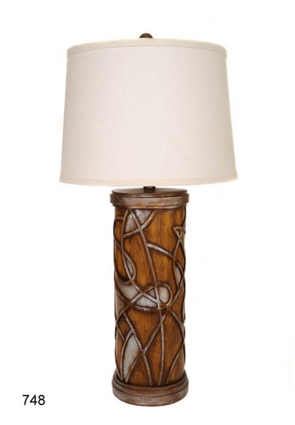 Brooklyn Poly Stone Fabric Shade Table Lamp PL-748