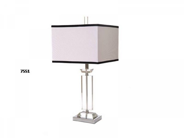 Brooklyn Crystal Chrome Square Table Lamp PL-7551