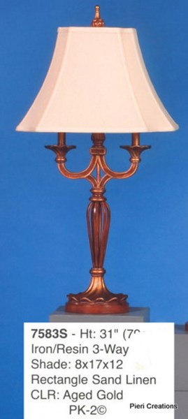 Brooklyn Poly Resin Fabric Shade Table Lamp PL-7583
