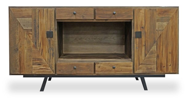 Primitive Collections Allegheny Reclaimed Wood 4 Drawers Buffet PMT-PC20130301010