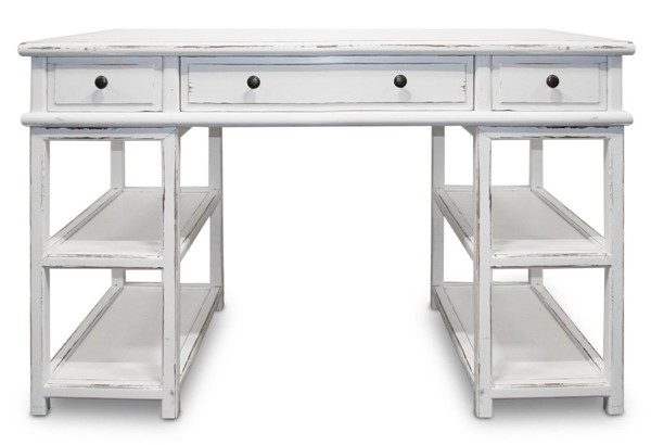 Primitive Collections Casita Modern White Wood Desk PMT-PCCF002WHITE10