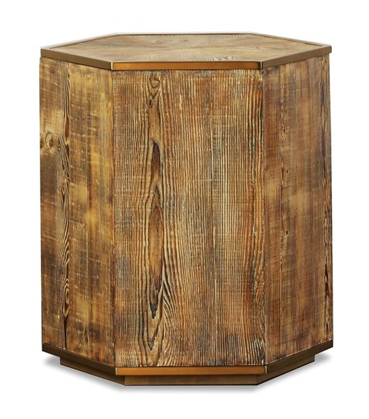 Primitive Collections Hex Wood Side Table PMT-PCKFV0280110