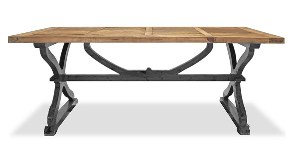 Primitive Collections Artisan Light Charcoal Rectangle Dining Table PMT-PC20120905410