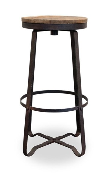 Primitive Collections Asher Modern Black Base Armless Bar Stool PMT-PC2104031401310
