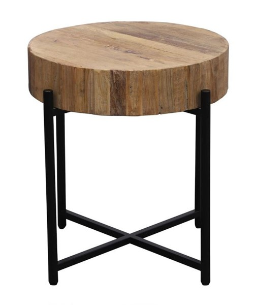Primitive Collections Fireside Black Metal Round Side Table PMT-PCCT191001S10