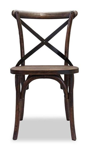 2 Primitive Collections Aspen Saloon Rustic Distressed Side Chairs PMT-PCCWC107GDW610