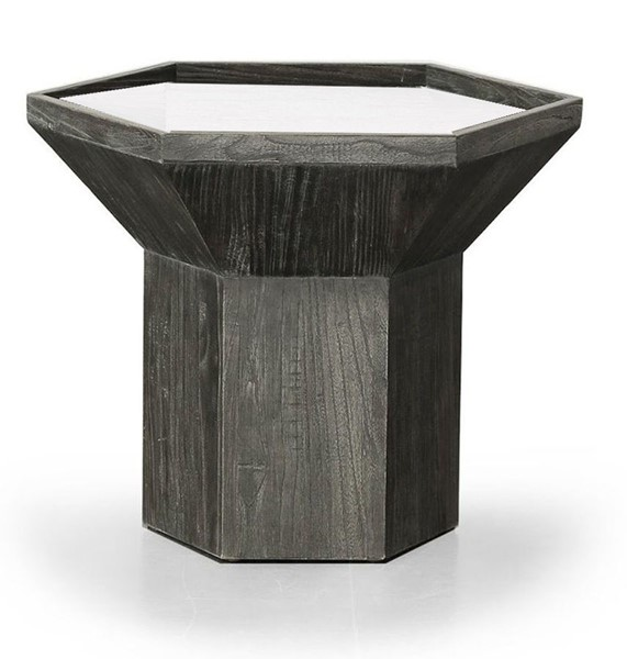 Primitive Collections Oyster Dark Natural Wood End Table PMT-PCKFH1063510