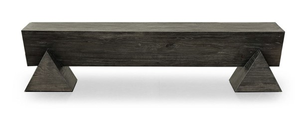 Primitive Collections Stellar Dark Natural Wood Bench Coffee Table PMT-PCKFH1064510
