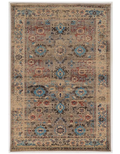 Primitive Collections Mahal Beige Turquoise Small Rug PMT-PCRUGSE225810