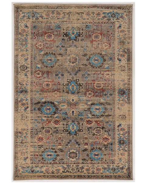 Primitive Collections Mahal Beige Turquoise Large Rug PMT-PCRUGSE228110