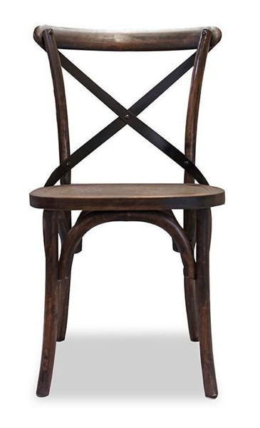 2 Primitive Collections Saloon Rustic Distressed Armless Side Chairs PMT-PCSH11210