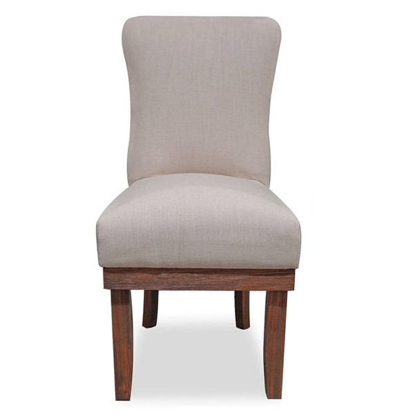 2 Primitive Collections Princeville Light Brown Fabric Side Chairs PMT-PCU60742AH10